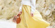 Falda de vuelo amarilla