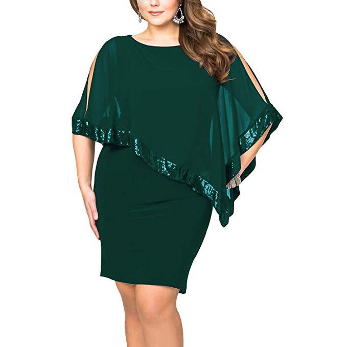 vestido noche verde para gorditas