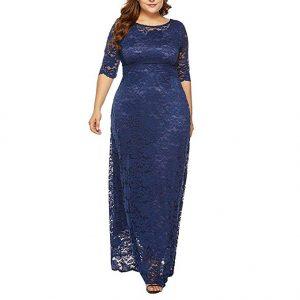Vestido para gorditas de encaje azul