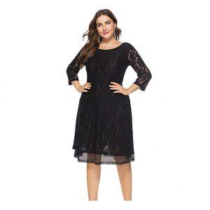 Vestido corto gorditas negro