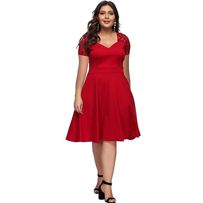 Vestido rojo casual