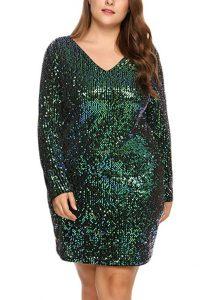 Vestido verde de fiesta gordita