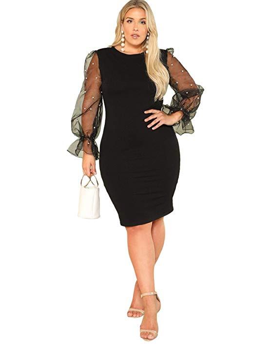 vestido elegante negro